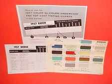 1957 DODGE CORONET CUSTOM ROYAL LANCER CONVERTIBLE SIERRA WAGON PAINT CHIPS SW