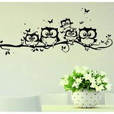 Sticker Autocollant Mural Branche Hibou Décoration Salon Chambre Enfant Cadeau