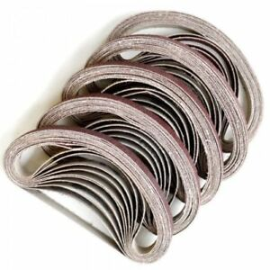 100 X 10 x 330mm Sanding Belts To Fit Air Powered Powerfile 40 - 60 - 80 - 120