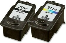 2pk For Canon PG210XL CL211XL Ink Cartridges For PIXMA MP230 MP260 M270 MP280