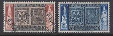 ITALIA: 1952 centenario della prima moderna e PARMA STAMPS SET sg815-6 USATO