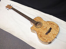 DEAN Exotica Quilt Ash acoustic electric LEFTY 4-string BASS guitar new EQABA