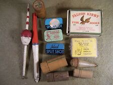 Vintage Fishing Split Shot Sinker Tins Bobbers Hooks