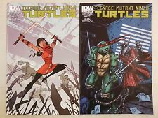 2x TEENAGE MUTANT NINJA TURTLES # 13 ~ IDW 2012 TMNT Cover A & B 1st Prints