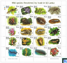 Sri Lanka Stamps 2020, Wild Species Threatened, Animals, MS
