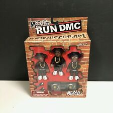 Mezco Mez-its Run DMC 3 Pack Mini Figures Collectable  Very Rare 2002 NIB