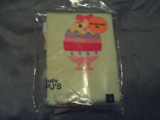NWT babyGap toddler girl winter PJ's yellow w/baby chicks and eggs size 3T