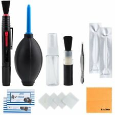 DSLR Camera Lens Cleaning Kit Brush Pen Cloth Air Blower Clean Cam Set Accessory