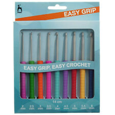 Pony Easy Grip Crochet Hook Set - 9 Hooks sizes 2mm - 6mm  P39810