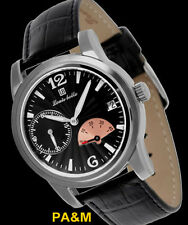 LOUIS BOLLE FISSURE MENS AUTOMATIC LUXURY WATCH NEW BLACK LEATHER