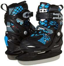 Roces Moody Ice Boy Ice Skates Adjustable (13Jr-3) Black-Astro Blue Red - New