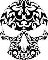 Stickers Sticker Tribal Tattoo Ninja Stars Car Atv Bike Garage st5 W75X9