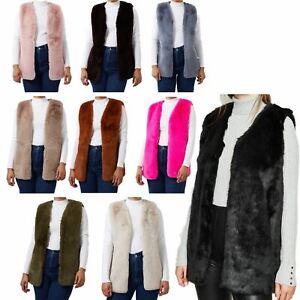 Winter Coats Women's Gilets Faux Fur Ladies Winter Coats Body Warmer Waist Coat