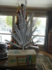 Vintage ~ Silver ~ Regal Sparkling Aluminum Christmas Tree ~ 4 Ft ~ 34 Branch