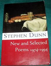 STEPHEN DUNN, New and Selected Poems: 1974-1994, PB