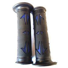 """7/8"""" LEFT 1"""" RIGHT  Sport Dirt Bike Rubber Hand Grips-Black & BLUE For YAMAHA"""