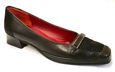 Amalfi By Rangoni Textured Black Heels Silver detail buckle Size 6 M