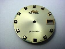 Powerwind Ocean Star Mido Vintage Watch Dial Gold 29.25mm Date Window Square Mrk