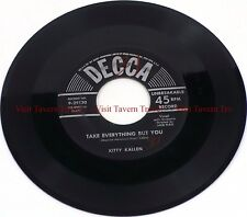 """1953 Pop Kitty Kallen - In The Chapel In The Moonlight / Take Everything 7"""" 45"""