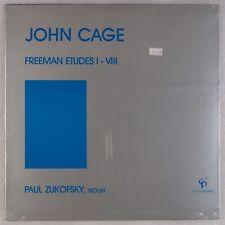 JOHN CAGE: Etudes I-VIII Paul Zukofsky Violin SEALED CP2 Rare Avant Garde LP OG