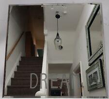 Decorative Silver Square Dream LED Wall Mirror 40x40cm