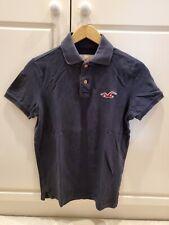 Hollister Men's Polo Pique Shirt Size Small Navy Blue Red Bird