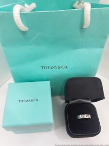 Genuine Tiffany & Co 18K White Gold Diamond Eternity Atlas Band Ring Size 7.5