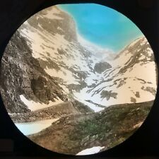 Antique Magic Lantern Glass Slide Photo Sande To Odde Pass Seljstad Norway