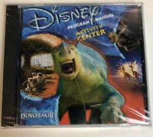 Disney Program Manual Activity Center Dinosaur CD-ROM WINDOWS 95/98 MACINTOSH