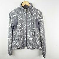 Lululemon Size 6 Run Travel To Track Jacket Beachy Floral White Fossil Gray
