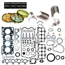 97-01 Honda Prelude 2.2L H22A4 DOHC 16V VTec Gasket Engine Rebuild RE-RING KIT