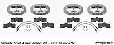 WILWOOD D8-4 BRAKE CALIPER,PAD,& LINE KIT,FRONT & REAR,1965-1982 CORVETTE C2,C3'