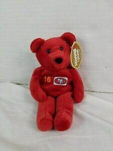 Salvinos Bammers Beanie Babies #16 Joe Montana SF 49ers Super Bowl NFL