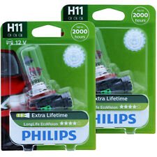 H11 PHILIPS LongLife EcoVision - 12362LLECOC1 Scheinwerfer Lampe - DUO-Pack NEU
