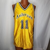 Vintage Anderson Rawlings Basketball Jersey Mens Size 42 Gold Black #11 USA