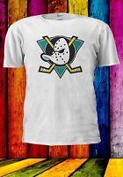 MIGHTY DUCKS NHL HOCKEY TEAM LOGO CLASSIC SPORTS Men Women Unisex T-shirt 954
