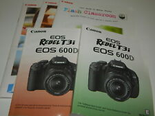 New listing Lot of Five Canon Eos Rebel T3i Eos 600D manuals guides booklets Only