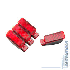4Pc for Audi A3 A4 A5 A6 A7 A8 Q3 Q5 TT RS Skoda New Red Door Warning Light Lamp