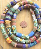 Autum Assortment Handmade Ghana Powder-Glass African Trade beads-Ghana