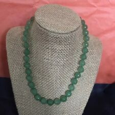 Natural Raw Faceted Emerald Necklace 18 Inches And 54 G