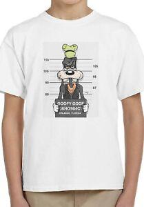Disney Goofy Goof Mugshot Cartoon Kids Unisex Top Birthday Gift T-Shirt 159