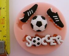 FOOTBALL SET SILICONE MOULD FOR CAKE TOPPERS, CHOCOLATE, CLAY ETC