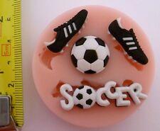 Fútbol Juego Molde de silicona para tarta DECORACIÓN,chocolate,ARCILLA etc.