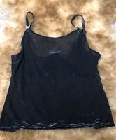 Canda black Camisole Top sleepwear nightwear sz  Us L UK 18-20 It eu 48-50