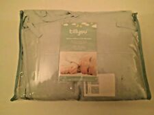 Breathable Crib Bumper Pad/Padded Liner 4 Piece/Light Blue