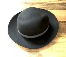58c12e1c1a8 Reiss 100% Wool Fedora Trilby Style Hat Black Medium   Large