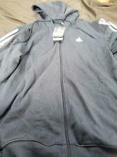 ADIDAS The Jock Hoody Full Zip Sweatshirt Jacket Navy M Hooded Fleece