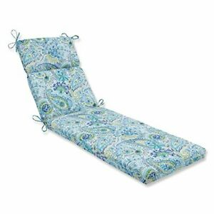 """Pillow Perfect Outdoor/Indoor Gilford Baltic Chaise Lounge Cushion 72.5"""" x 21..."""