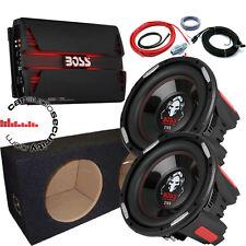 "BOSS Audio Phantom Twin 12"" BASS pacchetto completo 5000W Auto Sub Amp & Pacchetto"