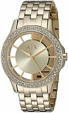Armani Exchange Women's AX5251 'Smart' Crystal Gold-Tone Stainless Steel Watch